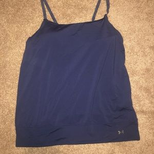 BRAND NEW: under armour tank with built in bra